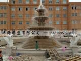 黄锈石三层流水钵 喷泉景观雕塑