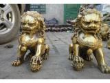 铜雕狮子摆放的寓意阐述