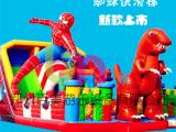 蜘蛛侠超人大型充气滑梯,百美新款充气城堡2017开年大卖