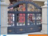 铝合金别墅电动平移门 高档庭院大门定做 铸铝围栏门