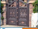 别墅户外高档铝合金艺术庭院电动大门定制封闭式终身不锈