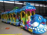 大象海洋无轨道火车 适用于公园 广场 游乐场 无轨道小火车