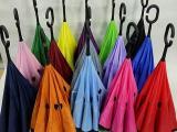 反向雨伞 双层反向雨伞 广告反向雨伞