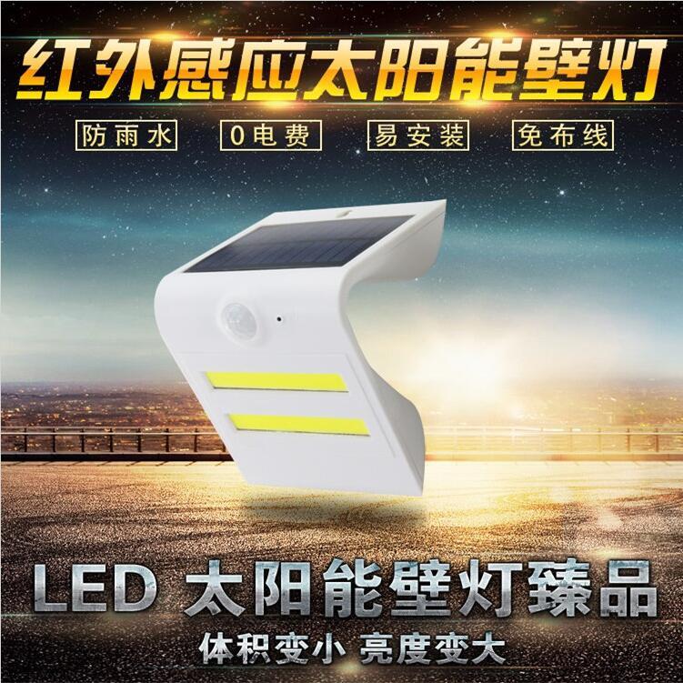 太阳能壁灯太阳能人体感应壁灯20LED三角形壁灯户外庭院灯