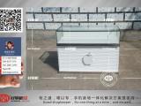 时尚新款苹果波纹手机柜台 苹果手机展示柜制作厂家