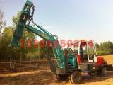 履带式挖掘机挖坑机履带式钻孔机 轮式挖掘机打桩机