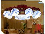 景德镇陶瓷灯具吸顶灯 镂空台灯 卧室床头现代中式仿古灯具批发