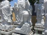 2017年寺庙佛像青石十八罗汉寺庙古建雕刻佛像特价石雕产品