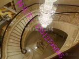 装饰玫瑰金铝艺雕花楼梯 别墅定制铝板镂空旋转楼梯扶手