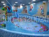儿童戏水游泳池设备厂家供室内亚克力拼接儿童游泳池价格滑梯池