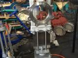不锈钢气动穿透式闸板阀