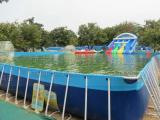 儿童水上乐园移动游泳池支架水池充气水滑梯