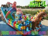 不同寻常大型充气城堡儿童游乐场,儿童充气蹦蹦床超人滑梯
