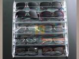 郑州多层展示架太阳镜陈列架墨镜展架透明亚克力眼镜收纳盒