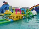 具有挑战性水上乐园游乐设备必备水上充气大冲关玩具