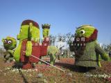 植物雕塑 五色草立体雕塑 立体花坛设计造价施工