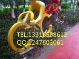 小区景观单行车模型雕塑 人物骑赛车雕塑