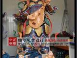 彩绘四大天王铜像,供应四大天王铜像,四大天王铜像坐像