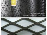 广州筛网供应菱形孔钢板网 红色上漆网 原黑色 镀锌钢板网