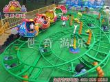大型游乐设备 20座儿童蜗牛滑行车 轨道旋转滑行车厂家