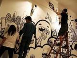 东莞房地产围墙彩绘,手绘壁画工程承接