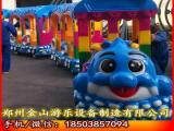 电动观光小火车厂家价格 郑州金山游乐厂家专业生产小火车