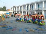 大量供应好玩的游乐设备广场户外公园游乐设备4节8座机械小火车