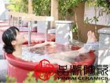 日式洗浴陶瓷泡澡缸、净身沐浴spa桑拿洗浴陶瓷浴缸
