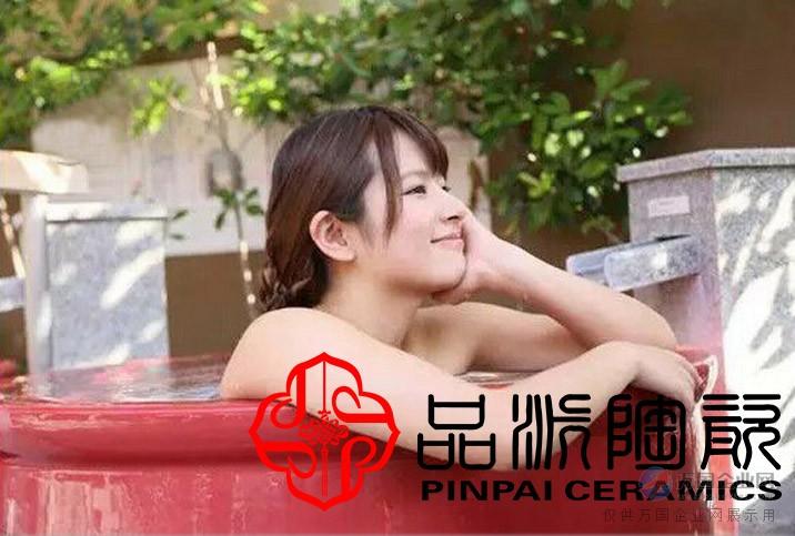 浴场洗澡东北沐浴水疗净身泡澡陶瓷大缸