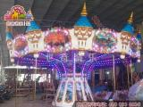 儿童商业双层上传动豪华旋转木马游乐设备36座转马专业配件