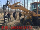 铲车改装钻孔机电线杆挖坑机硬土质钻坑机