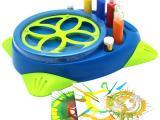 儿童创意绘画玩具套装旋转式作画机飞溅旋转画板