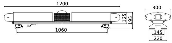 长排爆闪警示灯(超薄款 led)tbd-rb41w21