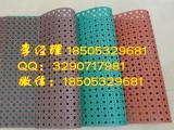 绿色成片圆孔900*600*7毫米重型稳定抗疲劳橡胶门垫