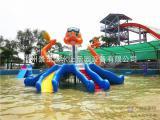 水上乐园设备水上游乐设施儿童戏水JZL-XS004章鱼滑梯