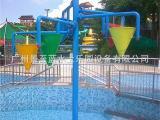 水上乐园设水上游乐设施儿童戏水JZL-XS011五椎倒水桶