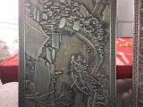 仿古铜铝板浮雕壁画厂家定制
