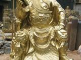 铸铜雕塑城市园林公园雕塑大型寺庙佛像带刀关公武财神关云长关羽