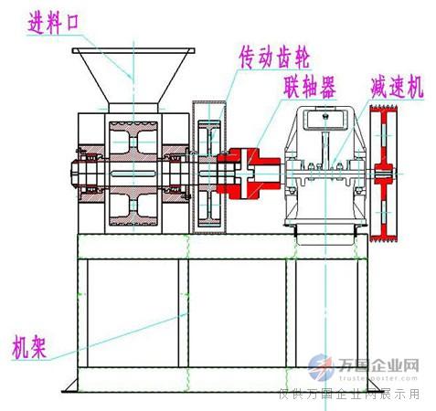 焦粉压球机结构图