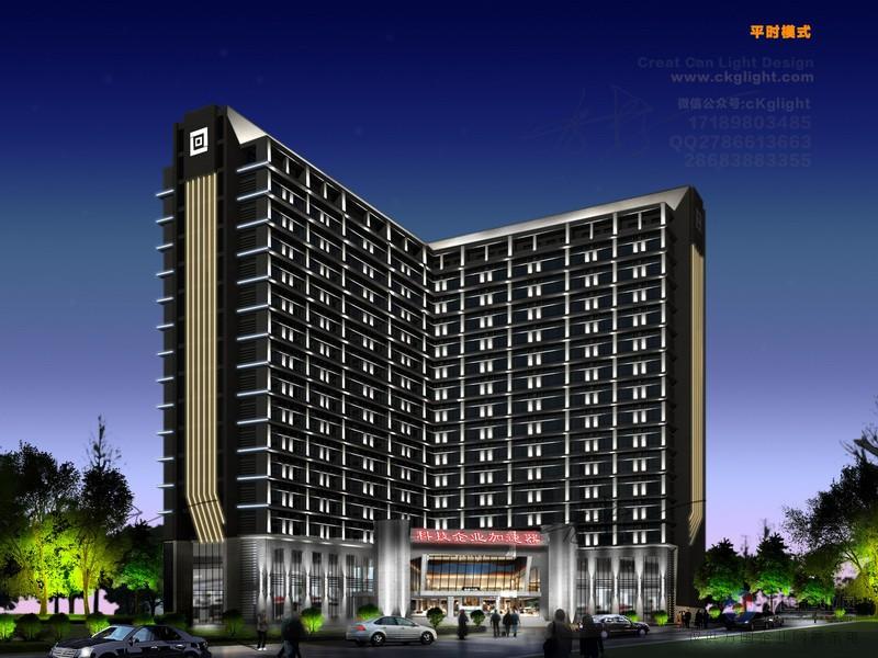 夜景设计|办公楼夜景工程设计|城市办公楼建筑夜景设计
