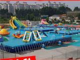大型水上乐园游乐设备充气水上玩具支架水池充气滑梯水池组合