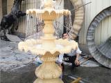 欧式喷水池喷泉 砂岩水景喷泉图片 黄绣石跌水钵实物图