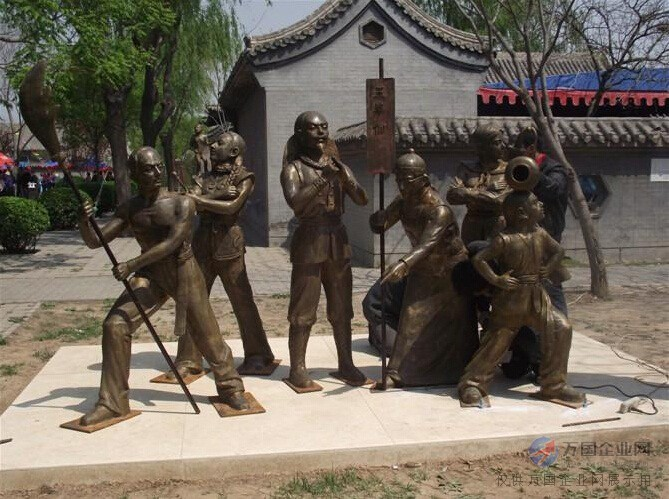 铸铜人物雕塑景观小品|铸铜人物雕塑|恒保发铜雕(图)图片