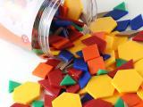 未来玩具先生 儿童益智拼图塑料积木几何图形认知玩具梦幻几何块