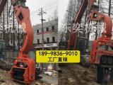 挖掘机打桩设备 振动沉桩机 可打桩拔桩一机多用