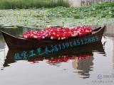 殿宝木船出售威尼斯贡多拉游船/欧式手划船/婚纱摄影道具船