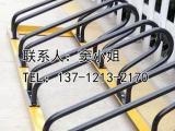 商场安装自行车停放架碳素钢卡位式停放架中慧通品牌