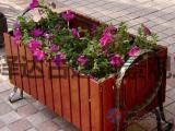 创意花箱景观花盆防腐木户外花园种植