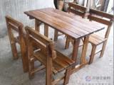 实木桌椅/啤酒桌椅/户外桌椅/炭烧木桌椅/庭院桌椅/休闲桌椅