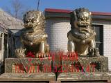 银行大型汇丰铜狮子翻新、银行汇丰狮子、恒保发铜狮子定制